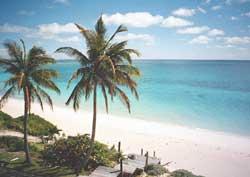 Bahamas private beach, original photo by Nils VAN BRABANT