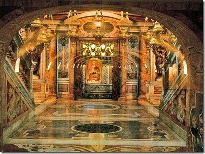 St Peters grave Bernini Vatican Italy